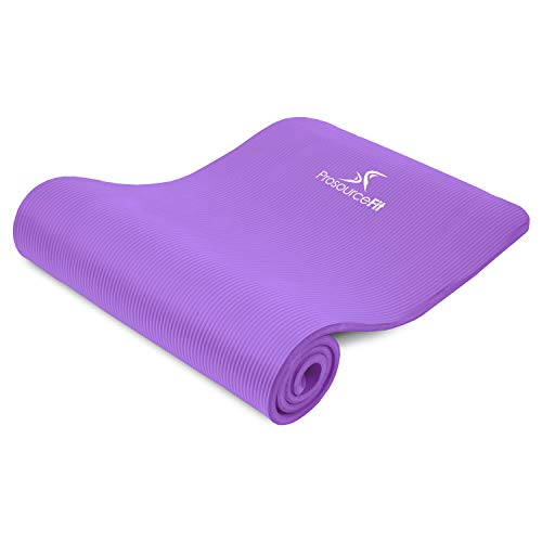 """ProsourceFit Extra Thick Yoga and Pilates Mat 1/2"""" - Purple"""