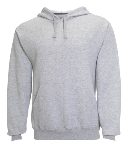 Fruit of the Loom Best Collection™ Men's Fleece Pullover Hood Large HEATHER GREY/CHARCOAL HEATHER