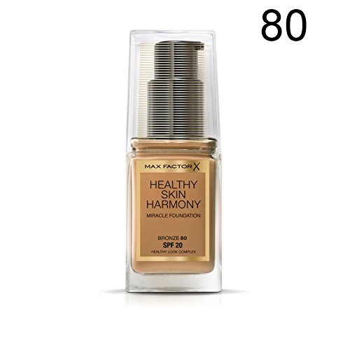 2 x Max Factor Healthy Skin Harmony Miracle Foundation - 80 Bronze
