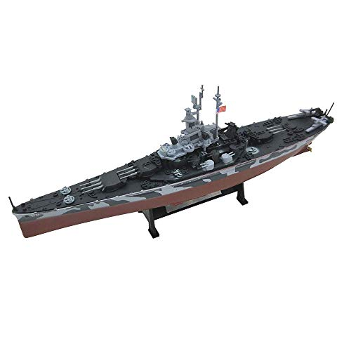 GLXLSBZ 1/1000 Scale Plastic Model, USS Alabama BB-60 Battleship Model, Adult Collectibles and Gifts, 8.1Inch X 1.6Inch