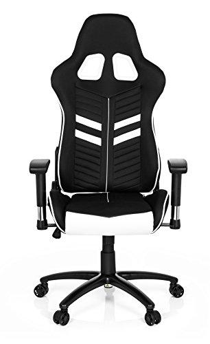 hjh OFFICE Gaming Chef-Sessel League PRO I mit Armlehnen, Sportsitz Ergonomisch, Höhenverstellbar Stuhl, 729250