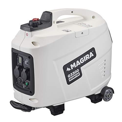 MAGIRA Inverter-Stromerzeuger 3300W Leiser Benzin Strom-Generator 3,3kW mit Digital Display und Trolley-Funktion in 7 Varianten: 0,8kW - 3,3kW