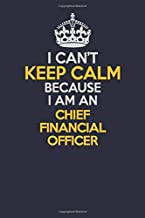 I Can't Keep Calm Because I Am An Chief Financial Officer: Career journal, notebook and writing journal for encouraging men, women and kids. A framework for building your career.