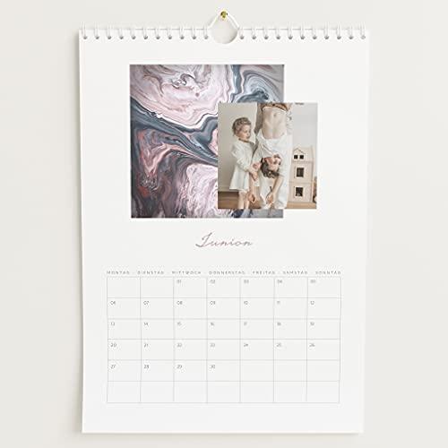 sendmoments Fotokalender 2022, Jahreskreis, Wandkalender mit persönlichen Bildern, Kalender für digitale Fotos, Spiralbindung, DIN A4 Hochformat, optional mit Veredelung