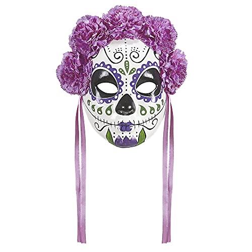 Widmann vd-wdm04786Masque Dia de Los Muertos, Rose/Violet, Taille Unique