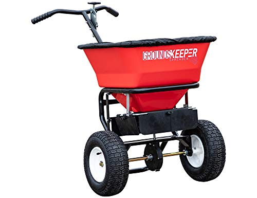 Buyers Products 3039632R Grounds Keeper Salt Spreader, 100 Pound Capacity, Red