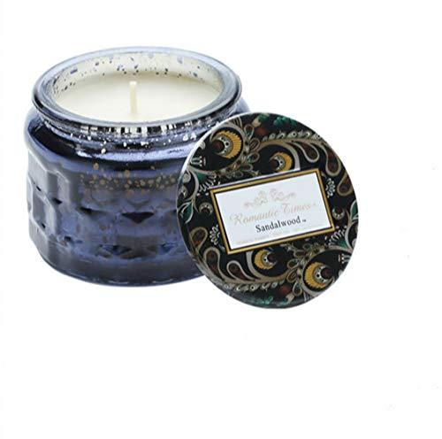 Una vela perfumada de aceite de coco, aceite esencial sin humo, ayuda para el sueño, puede quemar durante 30 horas, lectura de 7,5 x 5 cm, un buen compañero para el ocio y el baño.