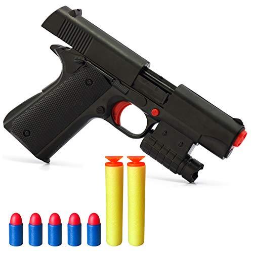 Pinovk Kid Toy Gun Realistic 1:1 Scale Colt M1911A1 Rubber Bullet Pistol Mini Pistols