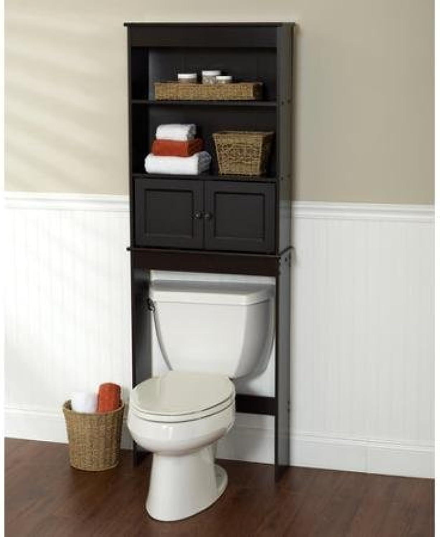 Freestanding Espresso Space Saver Bathroom Shelf, Black by Zenith Products