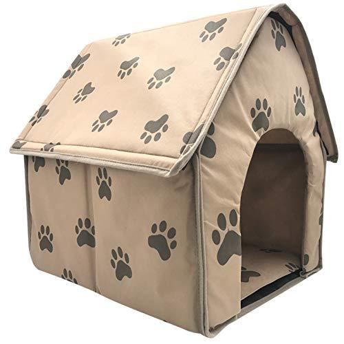 ASDFGT-778 Hundebetten Doppelhaus für kleine mittelgroße Hunde Haustier Bett Zelt Katze Kennel Indoor und Outdoor Portable Reise Bequeme Lieferungen (Color : Multicolor, Size : 47x49x49cm)