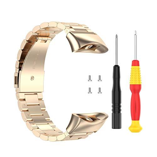 Leiouser - Correa de repuesto universal de acero inoxidable para reloj Garmin Forerunner 45 45S Swim 2