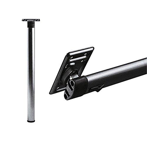 FAWO Klapp-Stützfuß für Wohnwagentisch, braun, mit Rastautomatik