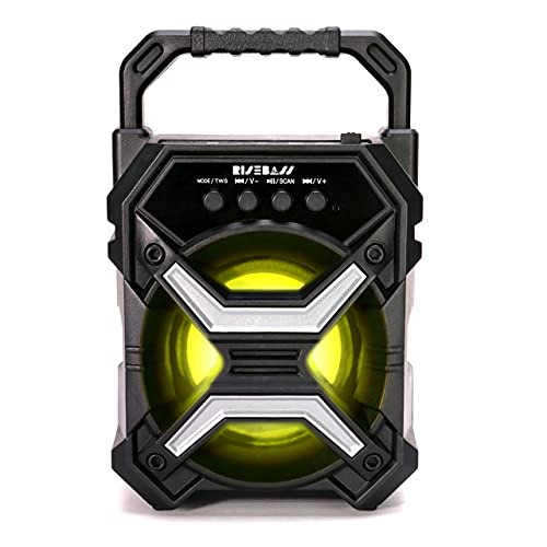 Portable Wireless Bluetooth Speaker for iPhone, Android, iPod and More - Rechargeable Bluetooth Speaker for Kids & Adults - Mini Speaker with Party Lights, for Hiking, Camping, Picnic and Boating.