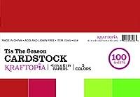 Kraftopia Tis The Seasonシリーズ カードストック バリューパック 4.5 x 6.5インチ 100枚