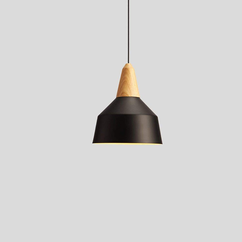 Kette einstellbar Einzelkopf Kreative Persnlichkeit Eisenkunst Amerikanischer Windlüster Nordic Kronleuchter Massivholz nach dem modernen einfachen Restaurant Pendelleuchten Leuchten (Farbe  Schw