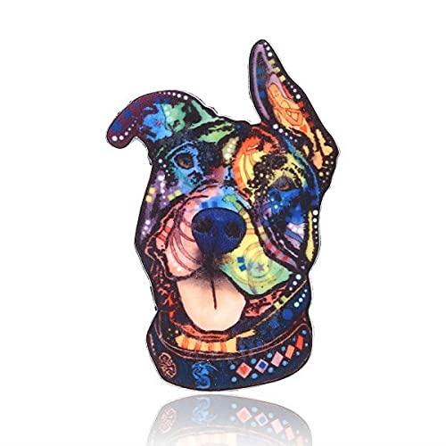 GOY Dibujos animados lindo gato perro pájaro acrílico Broches Pins Animal Broche serie Metal Pin insignia ropa collar solapa bolsa joyería para amante