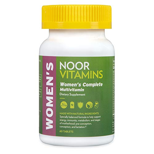 Noorvitamins Womens Multivitamin & Mineral I Once Daily Vitamin Supplement I Vegan Formula to Support Energy, Immunity, Metabolism, Healthy Appearance and Stages of Motherhood I 2-Month Supply