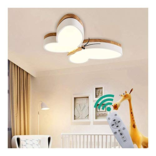 Wandlampe Kronleuchter Retro-Stehlampe Touch-Bedsi LED-Deckenleuchte Dimmbare Kinder Baby Lampen Holz Schmetterling Schlafzimmer Deckenleuchte 16w Metall Acryl-Schirm Lampe Esszimmer Badezimmer Küche