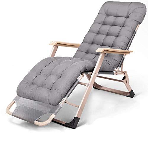 ALL-JingHong Sonnenliege verstellbar Klappbare Wellnessliege Ergonomisch geformt erhältlich Grau 2 JH-345