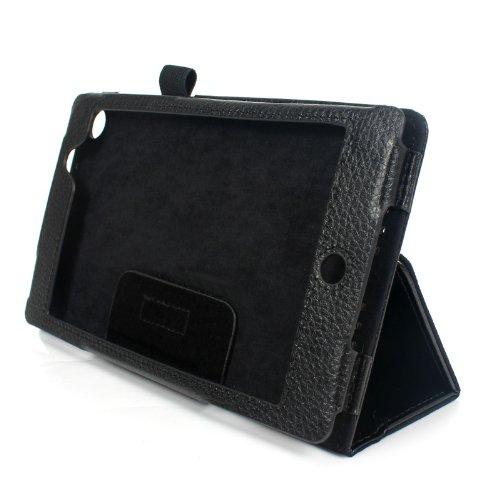 2-TECH Smart Cover Hülle Leder Tasche Folio mit Multi Ständer passend für Google Nexus 7 2013 (Neue Edition)