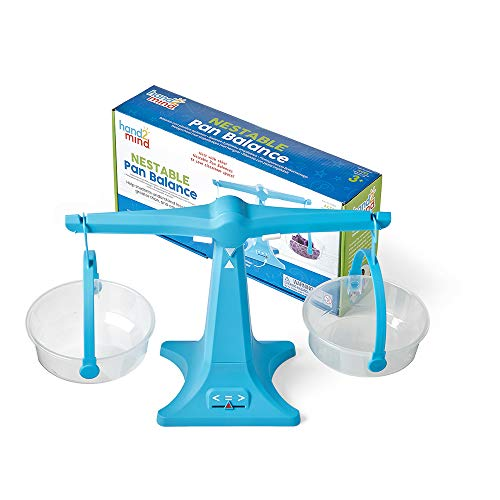 Balanzas con platillos apilables de Learning Resources, balanza con dos platillos transparentes, balanza para líquidos y sólidos, balanza para niños fácil de montar, balanza para el aula