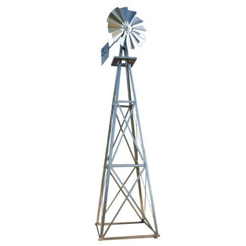 Outdoor Water Solutions 9-Foot Galvanized Backyard Windmill