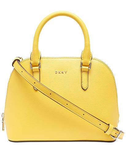 DKNY Bryant Small Dome Leather Satchel Crossbody - Sun (Yellow)