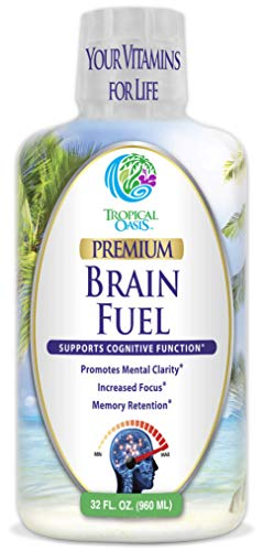 Brain Fuel - Liquid Brain Nootropic Supplement for Increased Mental Clarity, Focus, Concentration, Memory Retention- Fast Acting Liquid Formula - 32oz, 32 Serv