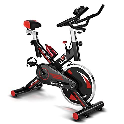 Spinning Bike Bicicleta Estática para El Hogar, Bicicleta Estacionaria Interior De Altura Ajustable, Bicicleta De Spinning Aeróbica para Hombres Y Mujeres, con Volante Silencioso (Color : Black)