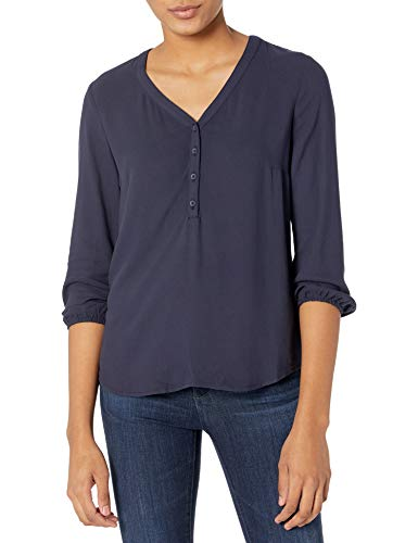 Amazon Essentials 3/4 Sleeve Button Popover Shirt Dress-Shirts Mujer
