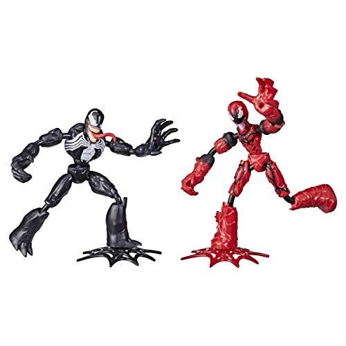 Marvel Spider-Man Bend and Flex Venom gegen Carnage Action-Figuren, 15 cm große biegbare Figuren, für Kids