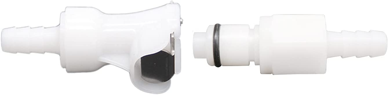 """LucaSng Plastic Hose Quick Connector with Shut-Off,Gas and Liquid Quick Connector Check Valve Beer Line Tubing Quick Disconnect(3/8"""" Barb)"""