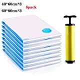 Vacuum Storage Bags, Space Saver Bag, Vacume Pack Storage Bags for Clothes Duvets Bedding Dresses Comforters...