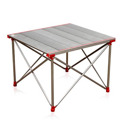 Klapptisch Outdoor, Tragbarer Campingtisch, Höhenverstellbarer Aluminium-Picknick-Grill-Strandtisch Mit Oxford-Aufbewahrungstasche - Ultraleicht