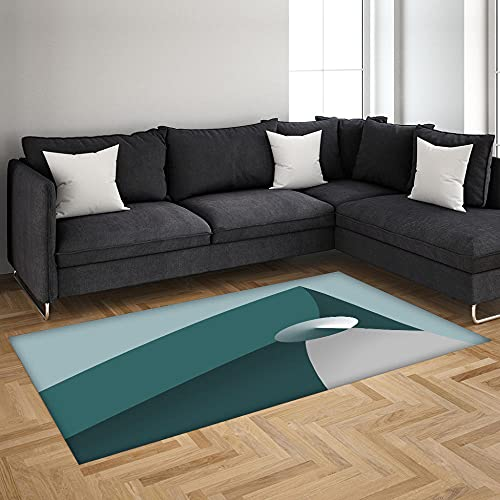 Alfombra Antideslizante Impresa En 3D Patrón Abstracto Alfombra De Franela Suave,Adecuada para Sala De Estar Y Dormitorio 120X170 Cm
