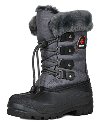 DREAM PAIRS Big Kid Maple Grey Knee High Winter Snow Boots Size 6 M US Big Kid