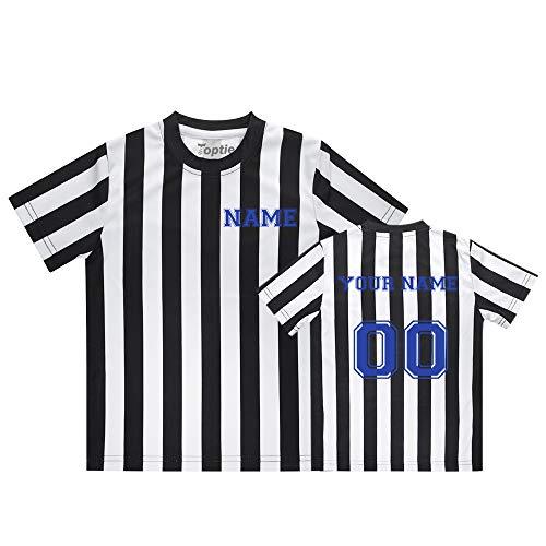 TopTie - Camiseta de árbitro para niños con bordado personalizado