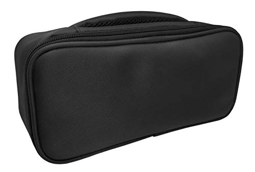 Nerthus Lunch Bag Rectangular Fiambrera Bolsa Termica Porta Alimentos Individual, Gris 1 Bolsillo, Tela Resistente, Negro, Talla Única