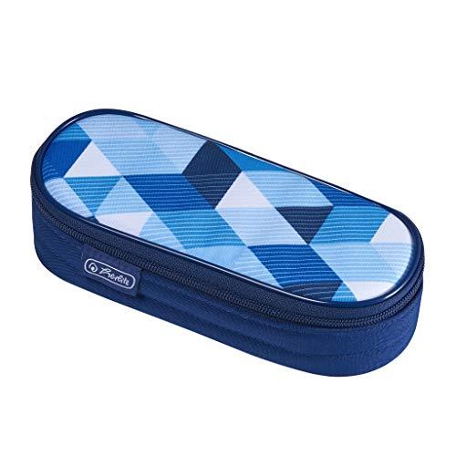 herlitz 50021215 Faulenzer Etui Blue Cubes, 1 Stück