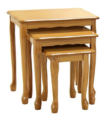 Racale - Juego de mesas nido (madera de roble)
