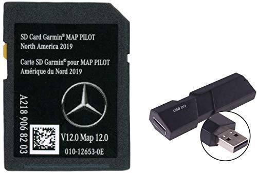 Mercedes-Benz Navigation SD Card Garmin Map Pilot Version 12 2019 Navigation Part A2189068203 with USB Adapter