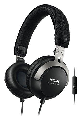 Philips SHL3565BK/00 Kopfhörer mit Mikrofon (40 mm Neodym-Treiber, universal Inline Gesprächs- & Steuerungsmanagement) schwarz