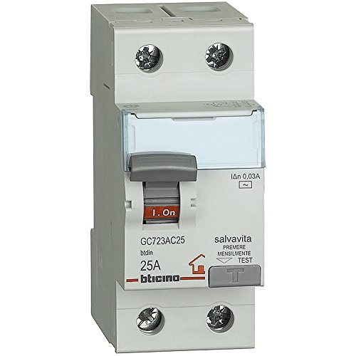 BTicino GC723AC25 BTDIN Interruttore Differenziale Salvavita, 2 Moduli