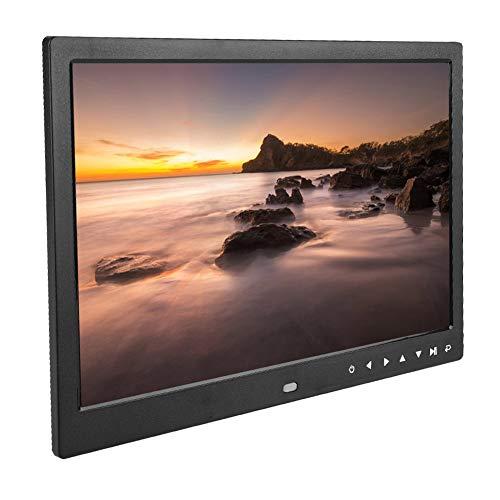 Garsent Digitaler Bilderrahmen, tragbarer elektronischer 13-Zoll-Bilderrahmen (1080P HD) mit Wecker, Kalenderfunktion, Foto- / Musik- / Videofilm-Player, Album mit Fernbedienung.(Black)