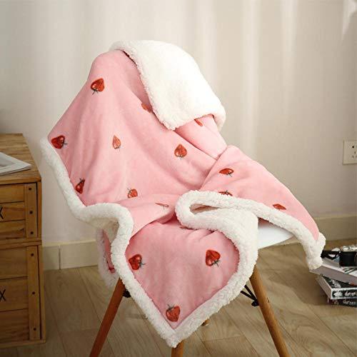 XUMINGLSJ Mantas para Sofás de Franela- Manta para Cama Reversible de 100% Microfibre Extra Suave -Rosa 3_El 100 * 150cm
