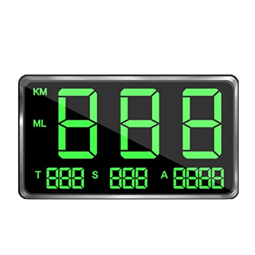 Velocímetro De GPS HUD, Cabezal De Velocidad De GPS para Automóvil Pantalla U-p HUD mph Velocímetro Digital Altitud-e Monitor C80