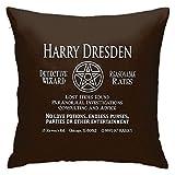 LAKILAN Harry Dresden-Wizard Detective Home Dekorative Überwurfkissenbezüge Sofa Couch Kissen Überwurfkissenbezüge