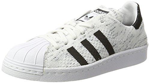 adidas Superstar 80S Prime Knit, Scarpe da Ginnastica Basse Donna, Bianco (Footwear White/Core Black/Grey One), 38 EU