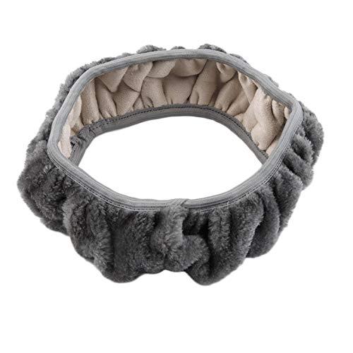 camellia® Char ng Warm Winter Short Wool Plüsch Lenkradbezug für Autozubehör Lenkräder & Lenkradnaben (Grau)