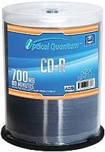 100 Pack Optical Quantum 80Min 700MB 52X CD-R AZO White Inkjet Hub Printable (MPN: OQCD52WIP-AZO)